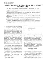 Seasonal Variation in Serum Concentrations of Selected Metabolic ...