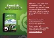 FarmSoft is a task based farm management system ... - Farm Software