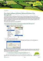Read FAQ - Farm Works Software