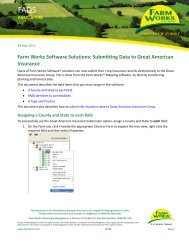 Submitting Data to Great American Insurance - Farm Works Software