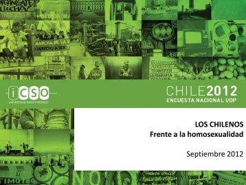 LOS CHILENOS Frente a la homosexualidad Septiembre 2012