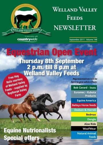 Equestrian Open Event - Welland Valley Feeds