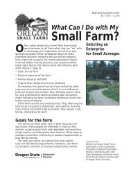 What Can I Do With My Small Farm - Oregon State University ...