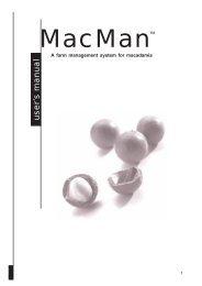 MACMAN: A farm management system for macadamia (user manual)