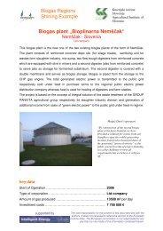 "Biogas Regions Shining Example Biogas plant ""Bioplinarna Nemščak"""