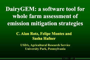 D i GEM ft t lf ft t lf DairyGEM: a software tool for : a software tool for ...