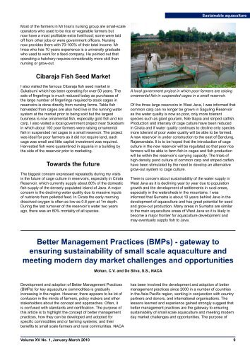 Better Management Practices (BMPs) - Library - NACA