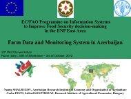 Farm Data and Monitoring System in Azerbaijan - Fao
