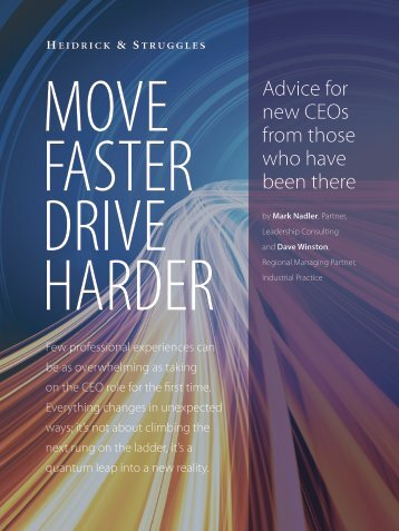 MOVE FASTER DRIVE HARDER