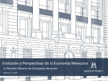 Evolución y Perspectivas de la Economía Mexicana
