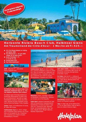 Horizonte Riviera Beach Club, Halbinsel Giens - GAST AG Utzenstorf