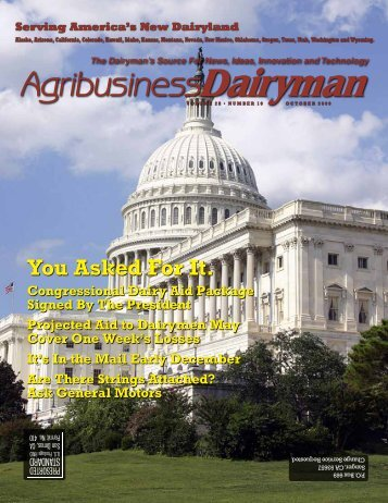 You Asked For It. - Agribusiness Dairyman
