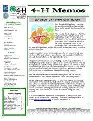 SAN DIEGUITO 4-H URBAN FARM PROJECT - San Diego ...