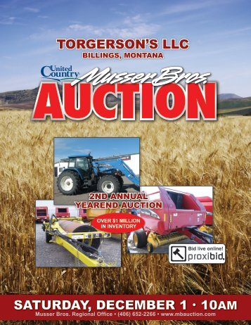 torgerson's llc - Musser Bros. Auctioneers