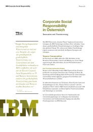 Corporate Social Responsibility in Österreich - IBM