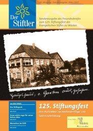 Sonderausgabe des Freundesbriefes zum 125. Stiftungsfest des ...