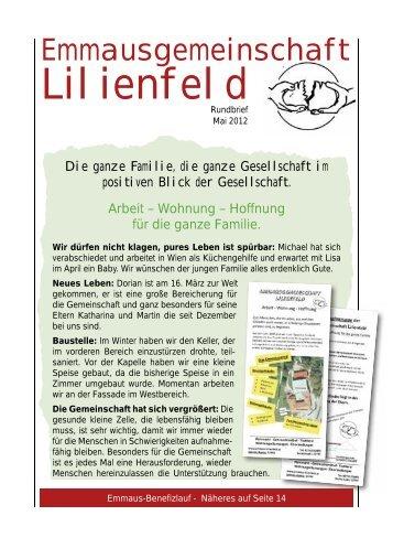 Rundbrief Mai/2012 - Emmaus Lilienfeld