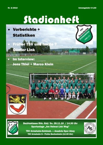 Ausgabe 5 / 2010 - TSV Armsheim-Schimsheim