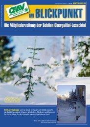 Die Mitgliederzeitung der Sektion Obergailtal-Lesachtal - OeAV