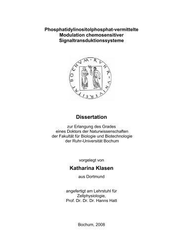 Katharina Klasen - Ruhr-Universität Bochum