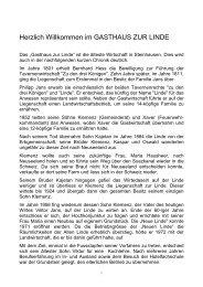Firma Heppenstall - Gasthaus zur Linde Steinhausen