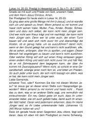 Lukas 14, 25-33; Predigt in Hessental am 5. So.n.Tr. (8.7.2007)