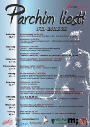 Plakat Parchim liest Teil 1