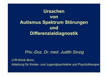 Ursachen von Autismus Spektrum Störungen und ...