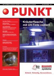 Kräuterflasche mit UV-Tinte codiert - Bluhm Systeme GmbH