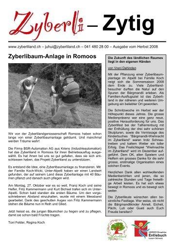 Zyberlibaum-Anlage in Romoos - Zyberliland Romoos