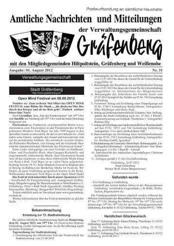 Amtsblatt Ausgabe 31/2012 - Hiltpoltstein