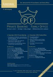 PRiVATE BANKiNG FAMiLy OFFicE - Familienstrategie