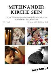 Pfarrbrief 2-2013 Web Bilder 4c - Katholische Kirche Griesheim