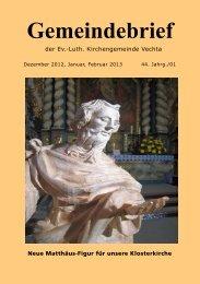 Dez. 2012 bis Febr. 2013 - Evang.-Luth. Kirchengemeinde Vechta