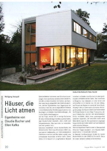 """""""Häuser die Licht atmen"""" .pdf - bucher kafka architektur"""