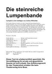 Die steinreiche Lumpenbande - Theaterverlag Arno Boas