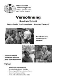 Rundbrief 3/2012 - Internationaler Versöhnungsbund