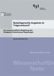 Die wissenschaftliche Begleitung des Stuttgarter Kinderhauses ...