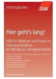 Hier geht's lang! - Hilfe für Mädchen und Frauen - Competentia NRW