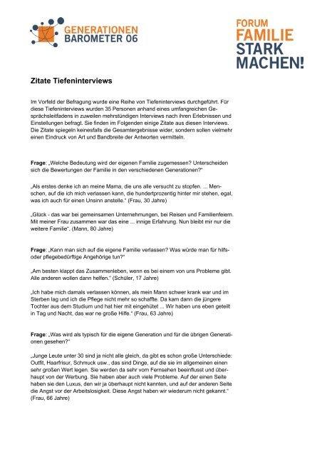 Zitate Tiefeninterviews I