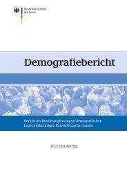 Demografiebericht (Kurzfassung) (PDF, 2 MB, nicht barrierefrei)