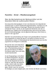 Familie - Kind - Medienangebot - Sichtwechsel eV - für gewaltfreie ...