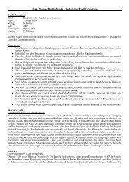 1 Mann, Thomas: Buddenbrooks – Verfall einer Familie (Abstract ...
