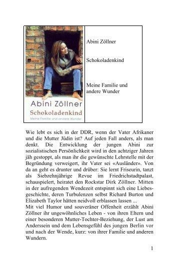 Abini Zöllner Schokoladenkind Meine Familie und ... - Deutscher Klub
