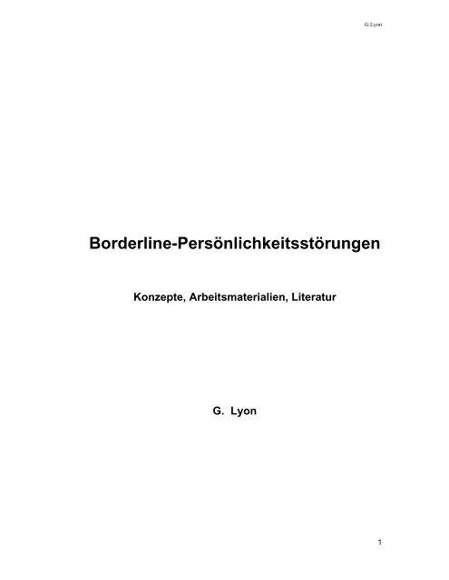 Borderline symbiose dauer