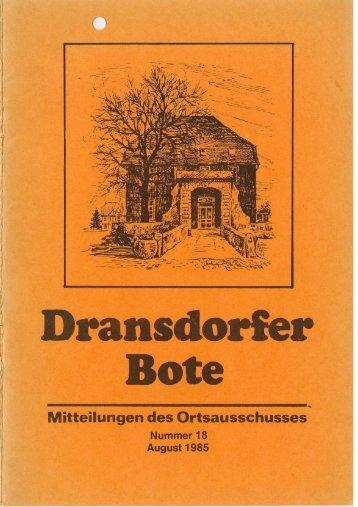 18/1985 - Ortsausschuss Bonn-Dransdorf