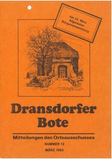 12/83 - Ortsausschuss Bonn-Dransdorf