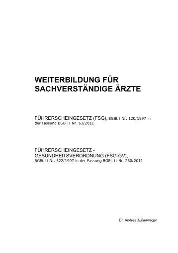 5. Novelle FSG-GV - Ärztekammer Oberösterreich