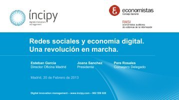 Redes sociales y economía digital. Una revolución en marcha.