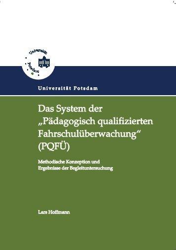 """""""Pädagogisch qualifizierten Fahrschulüberwachung"""" (PQFÜ)"""
